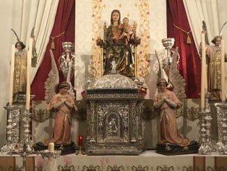 La Virgen de La Bella se trasladará este lunes al altar mayor de la Iglesia Parroquial recientemente rehabilitada.