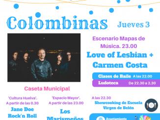 Cartel anunciador de la programación de Colombinas