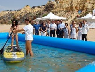 Promoción turística en la playa de Mazagón