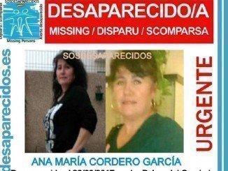 Ana María Cordero desapareció este lunes