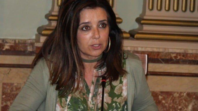 La concejala popular Carmen Sacristán en un pleno municipal