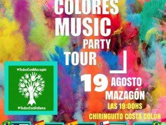 Cartel anunciador del I Zumba Colores Music Party Tour