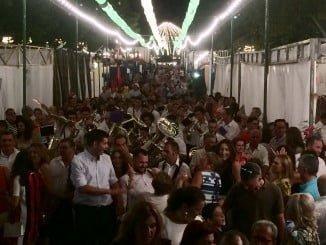 Numeroso público en la feria agosteña de Valverde del Camino