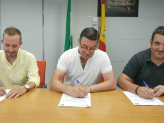 Firma de convenio entre Giahsa, la Comisión Liquidadora de la Mancomunidad del Andévalo Occidental y la Entidad Local Autónoma de Tharsis