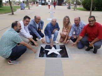 Cristina Hoyos ya tiene su estrella en el Paseo de la Fama de Islantilla