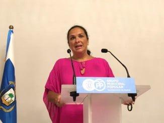 Juana Carrillo, concejala del Grupo Popular en el Ayuntamiento de Huelva