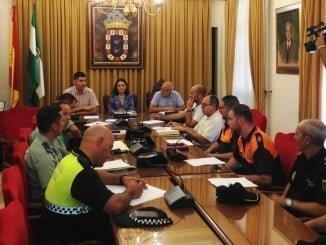 Reunión de la Junta Local de Seguridad en la que se ha abordado los pormenores de la Feria de Valverde