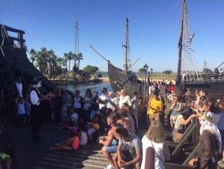 Éxito de público en las jornadas de puertas abiertas en el Muelle de las Carabelas