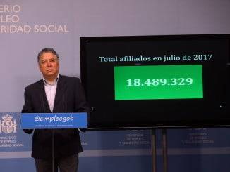 El secretario de Estado de la Seguridad Social explica los datos correspondientes al mes de julio