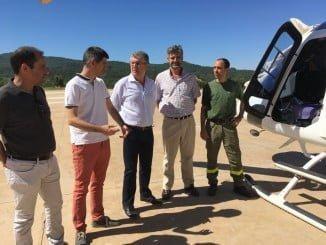 Cortés ha visitado el Centro Operativo Provincial, ubicado en la capital, y el Cedefo de Galaroza