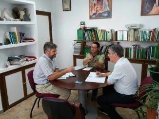 José Antonio Cortés visita el Cabildo Viejo para recabar toda información  posible sobre un espacio en el que se integra su municipio de origen
