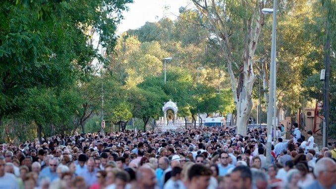 El traslado de la Virgen de La Cinta se realizará a partir de las 6:45 horas, tras la celebración de la misa
