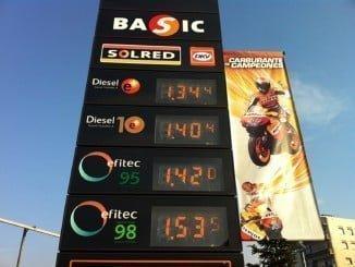 El precio de la gasolina, bajando en verano