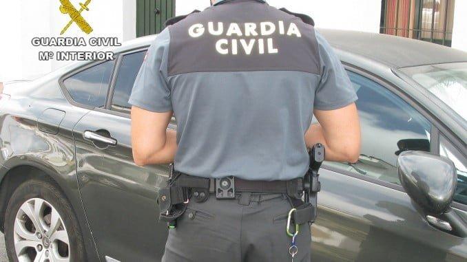 La Guardia Civil localizó a los autores del robo en el interior de un vehículo