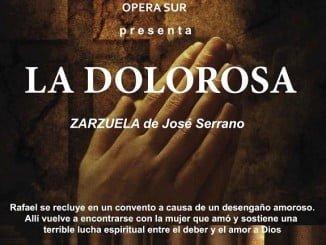 Cartel anunciador de la zarzuela 'La Dolorosa'