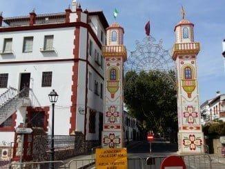 Imagen de la portada de acceso al recinto ferial de Aracena