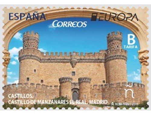Correos presenta el sello 'Castillo de Manzanares El Real' al concurso filatélico