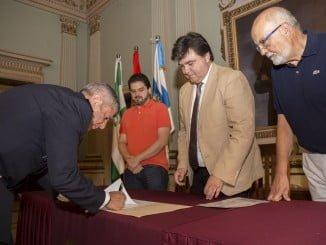 Acto de toma de posesión del nuevo jefe de Policía Local de Huelva