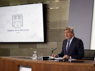 El portavoz del Gobierno durante la rueda de prensa posterior al Consejo de Ministros