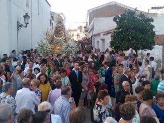 Procesión de la Virgen del Reposo en Valverde del Camino.