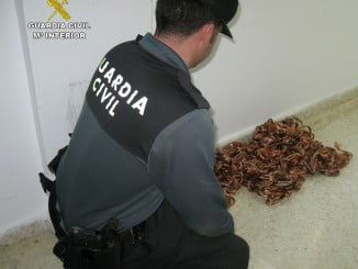 La Guardia Civil se percató del robo de cobre cuando inspeccionaba en una chatarrería