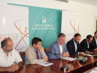 Presentación de la Feria Andalucía Sabor, en la que participan diez expositores de Huelva