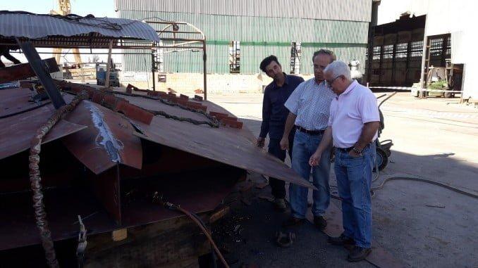 Luciano Gómez, secretario general de UGT-FICA Huelva visita los Astilleros onubenses