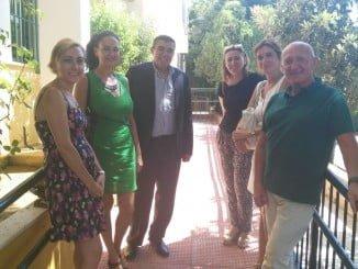 El delegado de Educación y la alcaldesa de Gibraleón visitan las obras de los colegios