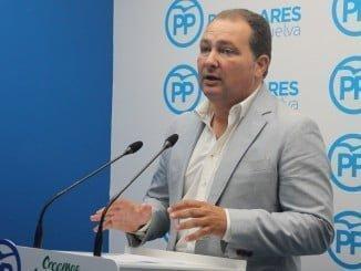 El secretario general del PP de Huelva y portavoz del Grupo Popular en la Diputación, David Toscano