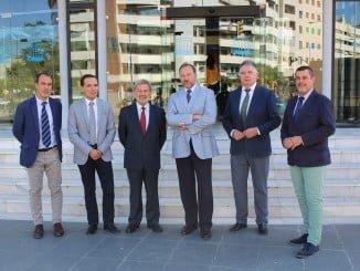 Romero ha presentado los incentivos a los empresarios, encabezados por García-Palacios Álvarez