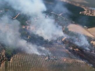Imagen de un incendio en Gibraleón