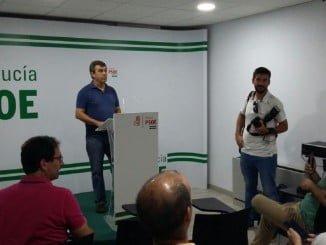 El candidato a la Secretaría General del PSOE en Huelva, José Martín
