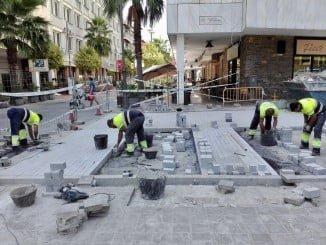 Obras en la calle Padre Marchena