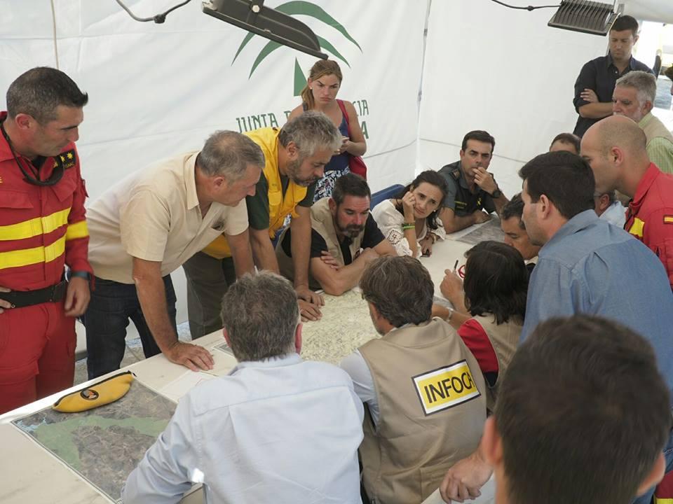 Imagen de la última reunión de coordinación del Plan Infoca