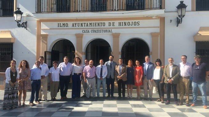Francisco Javier Fernández se ha reunido en Hinojos con alcaldes del entorno de Doñana