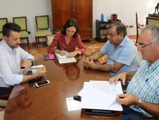 Reunión pescadores del Cerco sardina de Punta e Isla Cristina con la subdelegada del Gobierno en Huelva