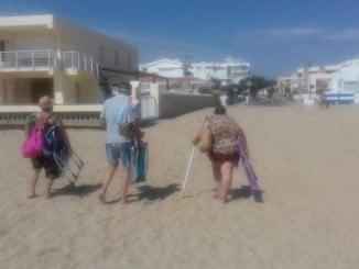 La teridada de las tablas dificulta el acceso a la playa de La Antilla