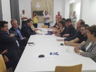 Delegación andaluza del encuentro que ha tenido lugar en Huelva promovico por FAMSI