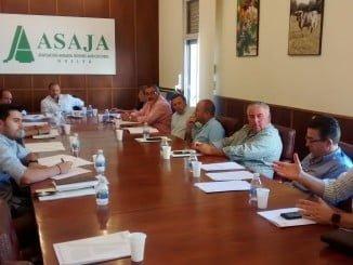 Primera reunión de la nueva Junta Directiva de Asaja-Huelva, presidida por García-Palacios Álvarez