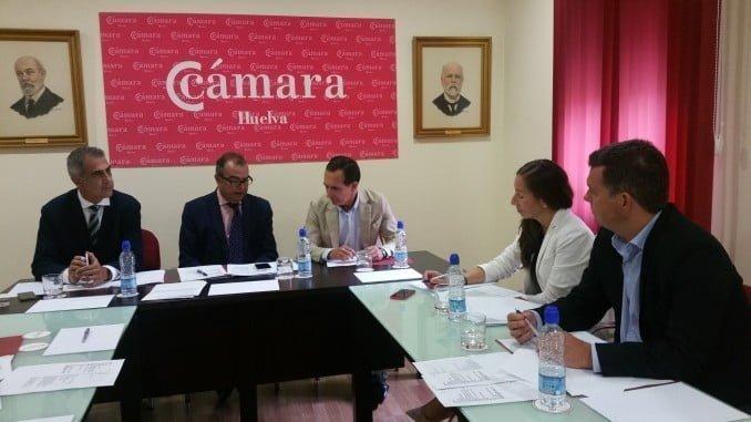 Los miembros del jurado eligen al finalista de los del  Premio Pyme del Año de Huelva