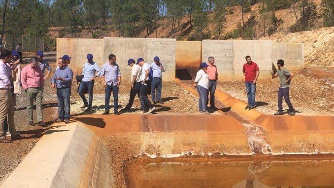 Los empresarios han visitado la planta construida en Mina Concepción por el proyecto Life Etad