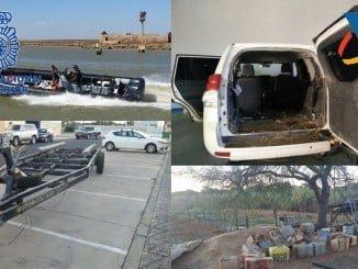 En la operación han sido detenidas tres personas y se han recuperado cuatro vehículos sustraídos donde transportaban la droga