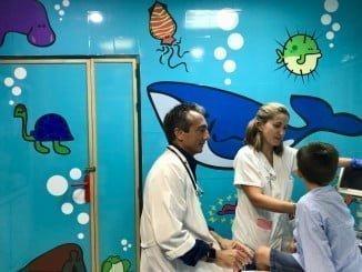 Los espacios físicos de Pediatría se han decorado con motivos adaptados a la infancia