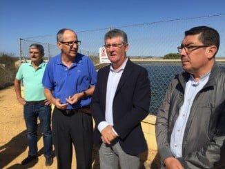 Juan Antonio Cortés visita las instalaciones de la Comunidad de Regantes Sur-Andévalo