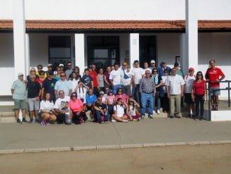 Miembros de la Asociación Cardiaca Onubense en una de sus primeras actividades ante el nuevo curso.