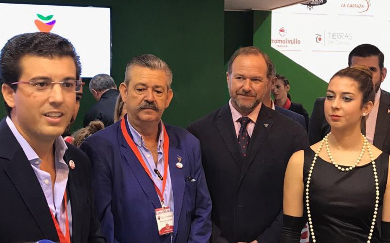 José Luis Garcia-Palacios Álvarez, presidente de Caja Rural del Sur, acompañó a marcas andaluzas en sus presentaciones en Fruit Attraction.