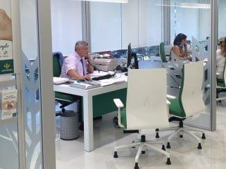 En la imagen una de las nuevas oficinas de Caja Rural del Sur.