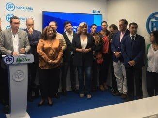 Cierre de filas de la dirección provincial del PP con el grupo Municipal tras declarar Juan Moreno en Sevilla que 'estaba machacado'.