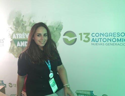 Ana Chaparro, candidata a la presidencia de NNGG en Huelva