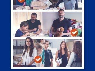 Cartel de la campaña de de captación de voluntarios de Madre Coraje